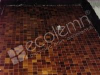 Mozaic lemn Teak pardoseala baie