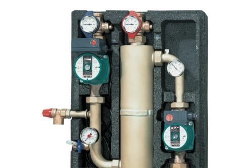 Module de separare pentru instalatii de incalzire prin pardoseala