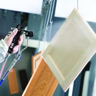 Finisaj in lemn - pulverizare