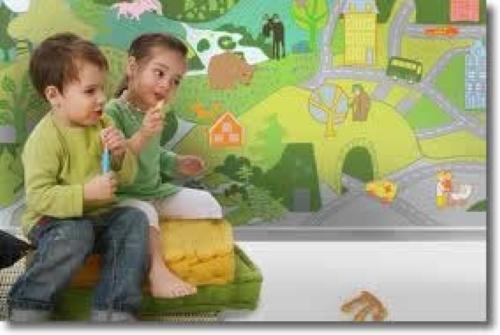 Tapet camera copilului