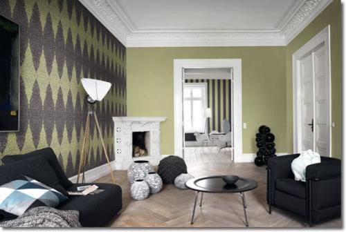 Amenajare pereti cu tapet modern