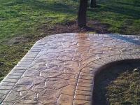 Pavare alee cu beton amprentat