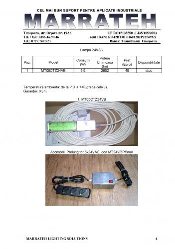 MRT - 4 - lampi 24VAC