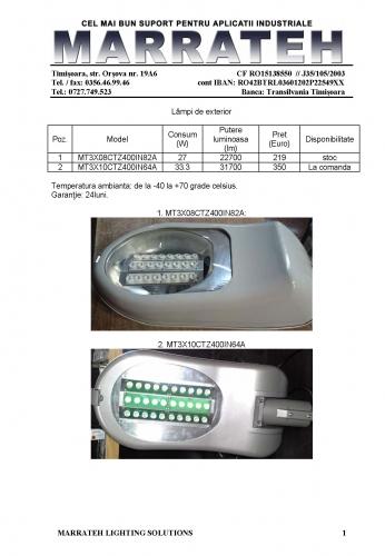 MRT - 1 - lampi stradale