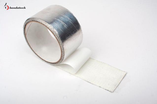 Banda adeziva de fibra de sticla cu aluminiu