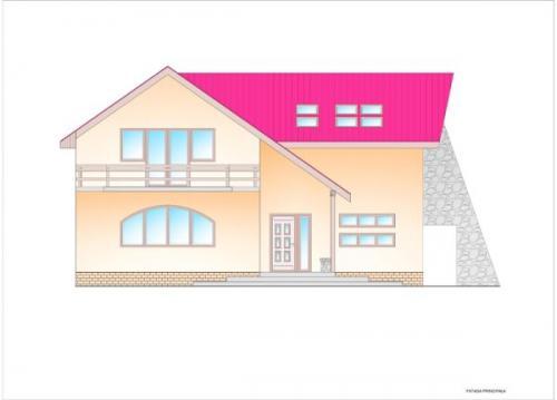 Constructie cu acoperis cu tigla sau tabla