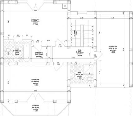 Plan mansarda constructie cu caramida phoroterm