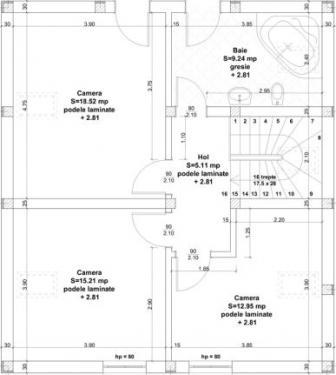 Plan mansarda constructii civile Timisoara