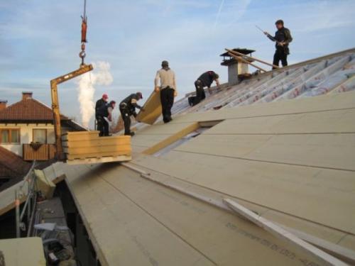 Izolarea acoperisului cu Gutex ultratherm in Timisoara