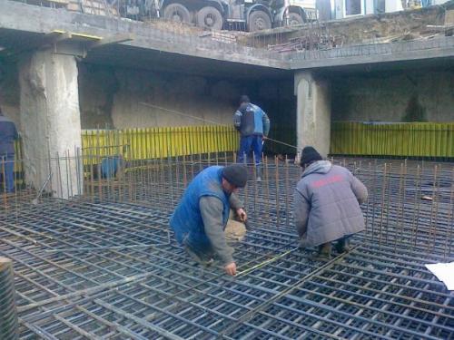 Montaj armaturi fier beton pentru structuri