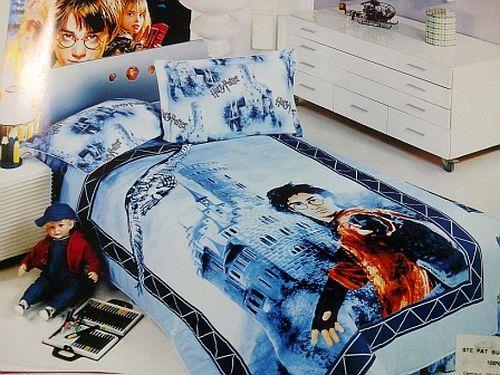 Lenjerie de pat imprimeu Harry Potter
