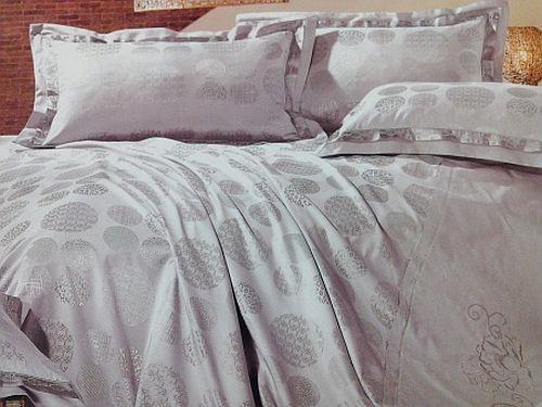 Lejerie de pat cu sfere gri