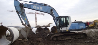 Excavator O&K RH 8.5 cupa mica
