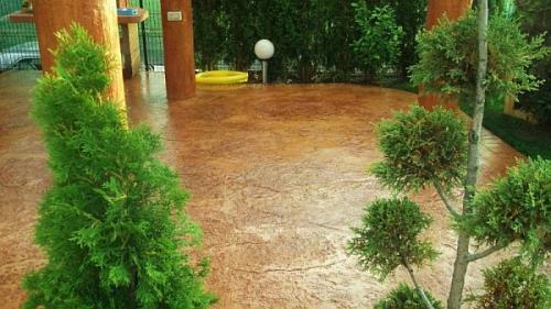 Pavaj beton amprentat spatiu rezidential