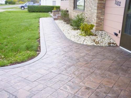 Pavaj beton amprentat spatii rezidentiale
