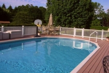 Decking piscina