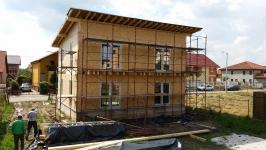Constructie case din lemn