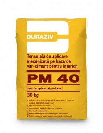 Duraziv - tencuiala mecanizata PM40