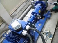 Aliniere cu laser ansamblu motor-pompă