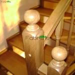 Scari si balustrada din lemn masiv