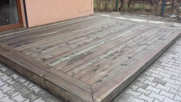 Terasă din larice tratată cu Eco lemn