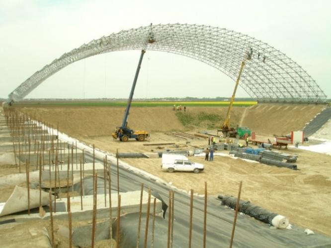 Prioectare structuri metalice acoperire depozit deșeuri Slobozia