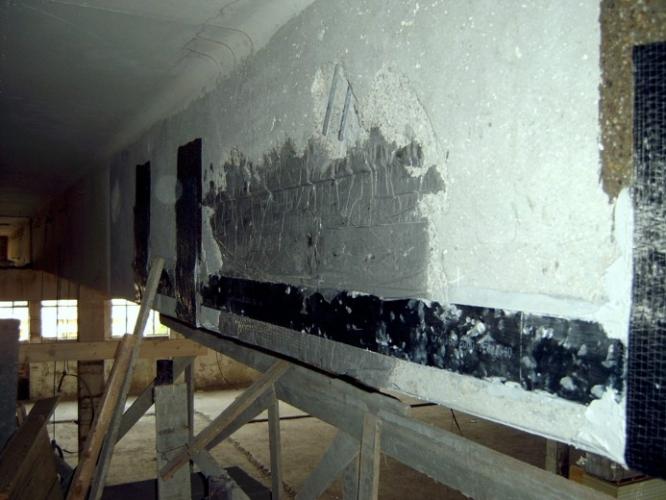 Consolidare grindă cu lamele de carbon