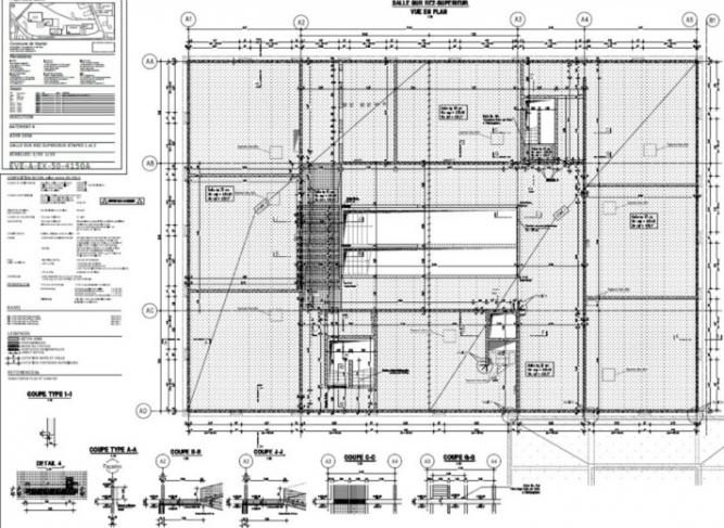 Schiță de armare - planșeu peste subsol