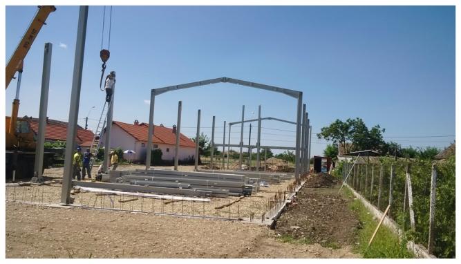 Construcție hală metalică pe structuri din europrofile
