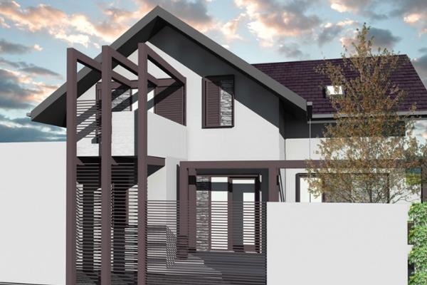Casa pe structura metalica