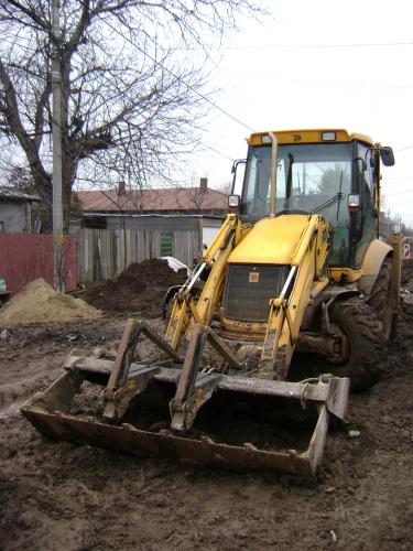 Buldoexcavator pentru construcții