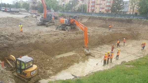 Excavatie generala parcare M Open Ville