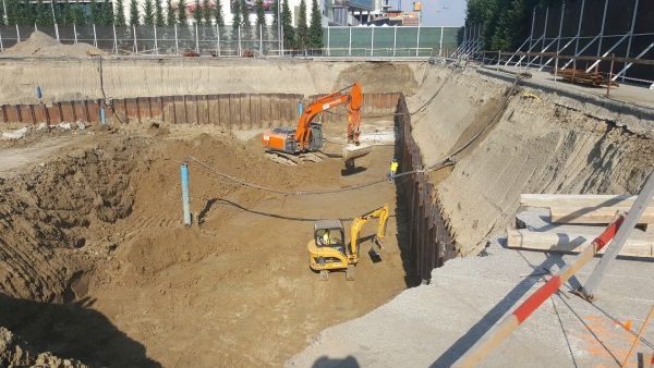 Excavatie generala cu palplanse UBC 1 Open Ville